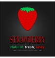 Strawberry poster Natural fresh tasty vector image