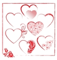 Valentines day templates elements vector image vector image