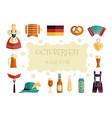 oktoberfest beer festival flat icons design vector image