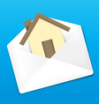 Envelope and Home vector image
