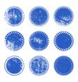 Blue Grunge Stamp Set vector image