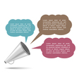 Megaphone with Speech Bubbles vector image