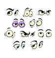 Cartoon eyes with different expressions vector image vector image