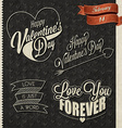 Vintage style valentines day design vector image