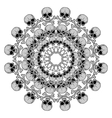Human Skull circular pattern vector image vector image