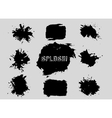 Set of grunge shapes banners vector image