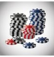 Poker design game and chips concept  casino vector image