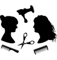 Hairdressing 1 vector image vector image