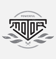 Automotive motorcycle badge with fire and bolts vector image