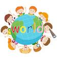 Children smiling around the world vector image