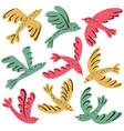 colorful birds icon set vector image