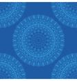 ethnic boho pattern mandala on a blue background vector image