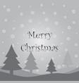gray christmas card vector image