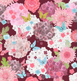 seamless texture with abstract floral design vector image vector image