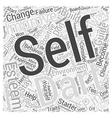 build your self esteem a starter guide to self vector image