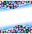 background with precious stones vector image