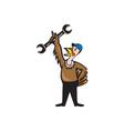 Turkey Mechanic Standing Spanner Cartoon vector image vector image