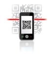 qr code phone vector image