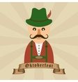 Oktoberfest celebration design with Bavarian man vector image