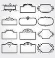 frame set ornamental vintage decoration vector image vector image