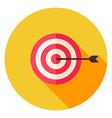 Aim with Arrow Circle Icon vector image