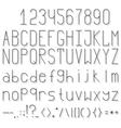 Volume font vector image