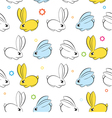 seamless wallpaper Easter bunnies on a white vector image vector image