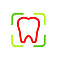 Logo Dental Healthy Care Tooth Protection vector image