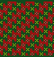 acient pattern gentle colors of red green vector image