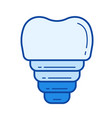 dental implant line icon vector image