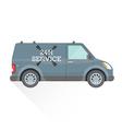 emergency repair service car vector image