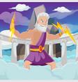 greek god thunder high heaven vector image