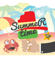 Summer Time Concept Banner vector image