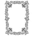 vintage frame pattern engraving vector image