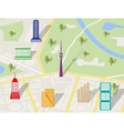 City Map With various buildings vector image