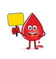 blood group icon with drop vector image
