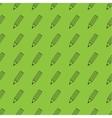 Flat pencil seamless pattern vector image