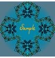 Decorative ornamental flyer template vector image