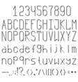 Thin font with shadow vector image