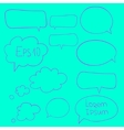 Collection of speech bubbles vector image