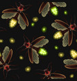 firefly seamless pattern vector image