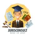 lawyer attorney logo design template vector image