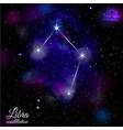 libra constellation with triangular background vector image