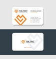 loved white business card with yellow heart vector image