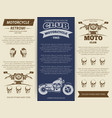 moto club vintage banners template vector image