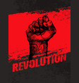 revolution social protest creative grunge vector image