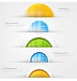 Set of modern banners with blue lines vector image