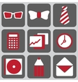 set of nine icons vector image