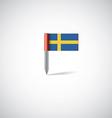 sweden flag pin vector image