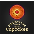 Sweet and tasty delicious food best cupcake vector image